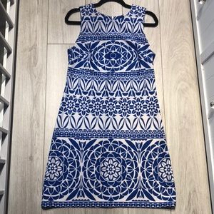Just Taylor Blue & White Dress 12